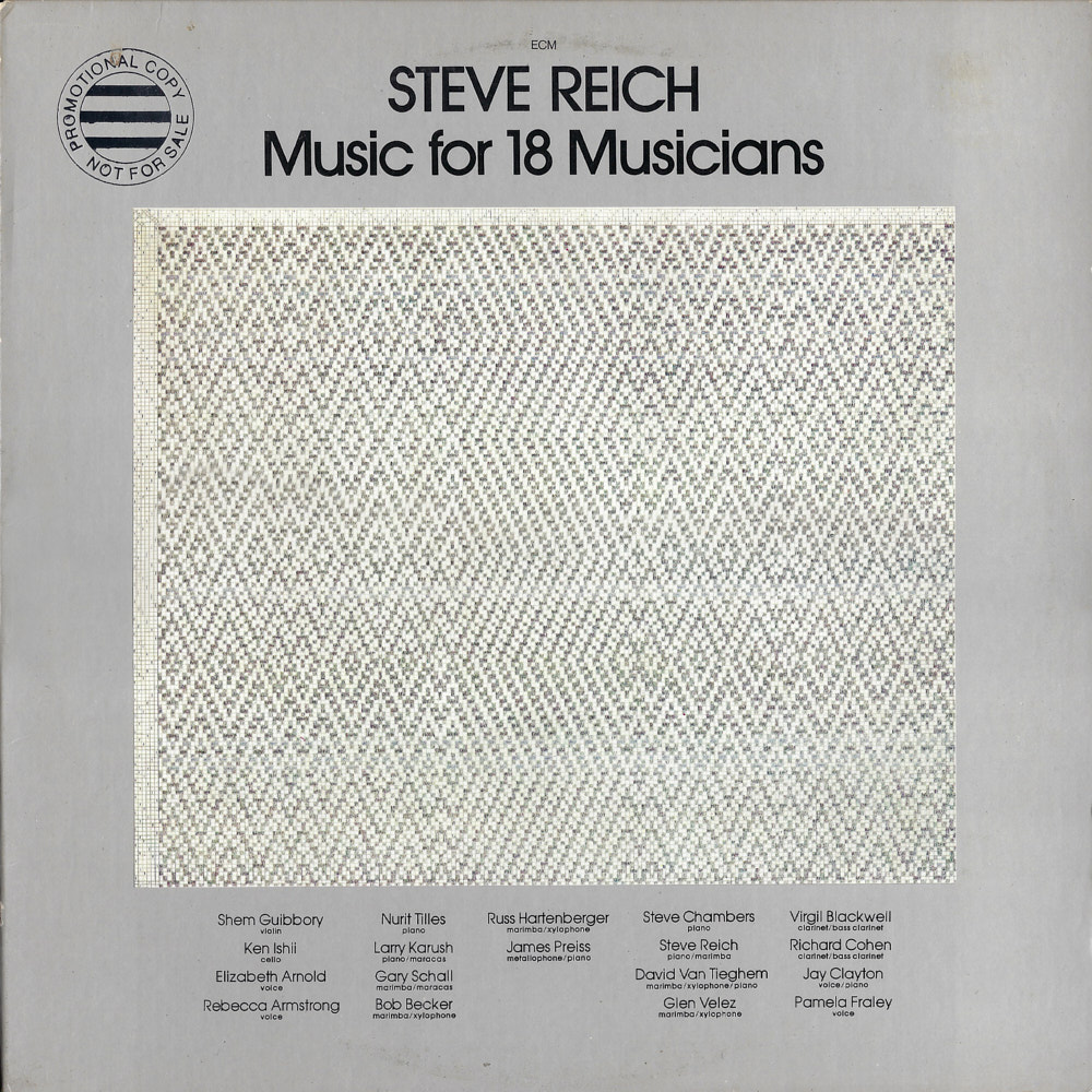 Steve Reich – Music for 18 Musicians album cover
