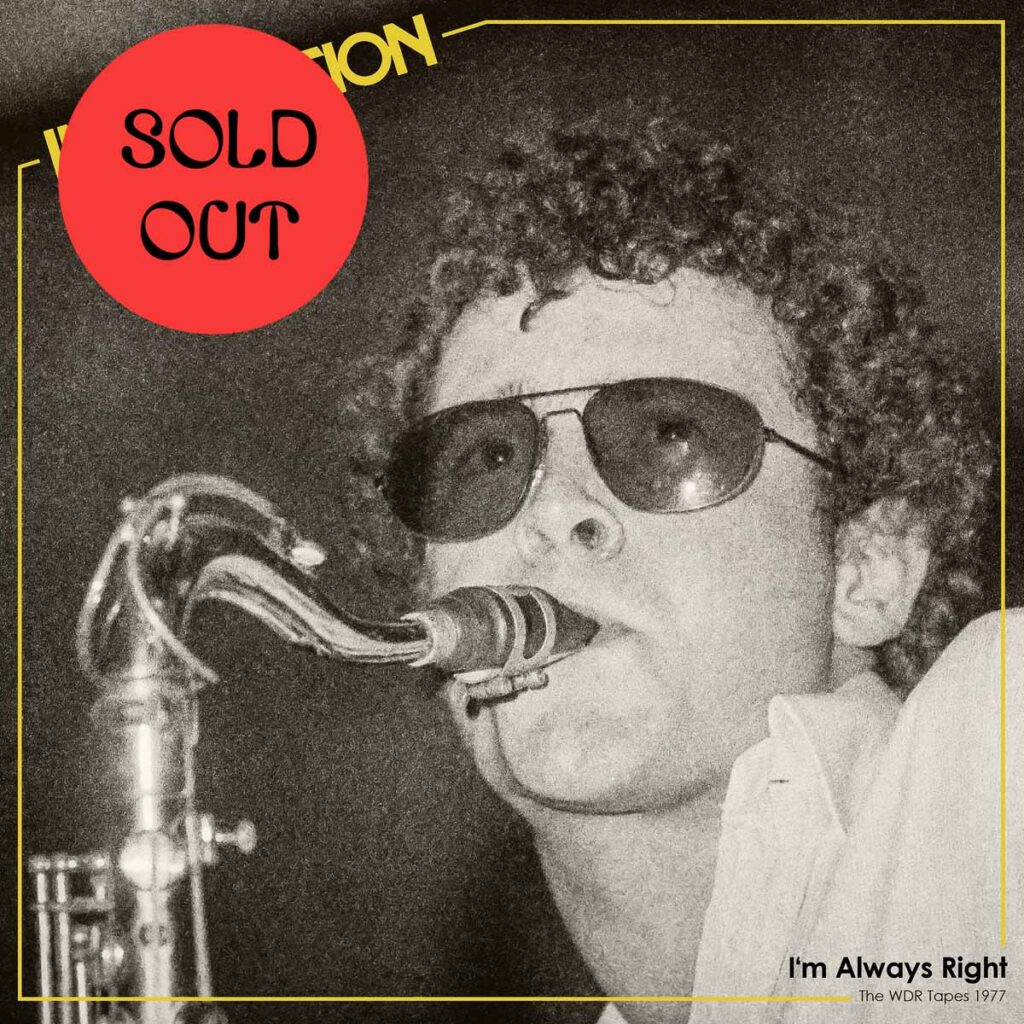 Imagination – I'm Always Right (The WDR Tapes 1977) LP product image