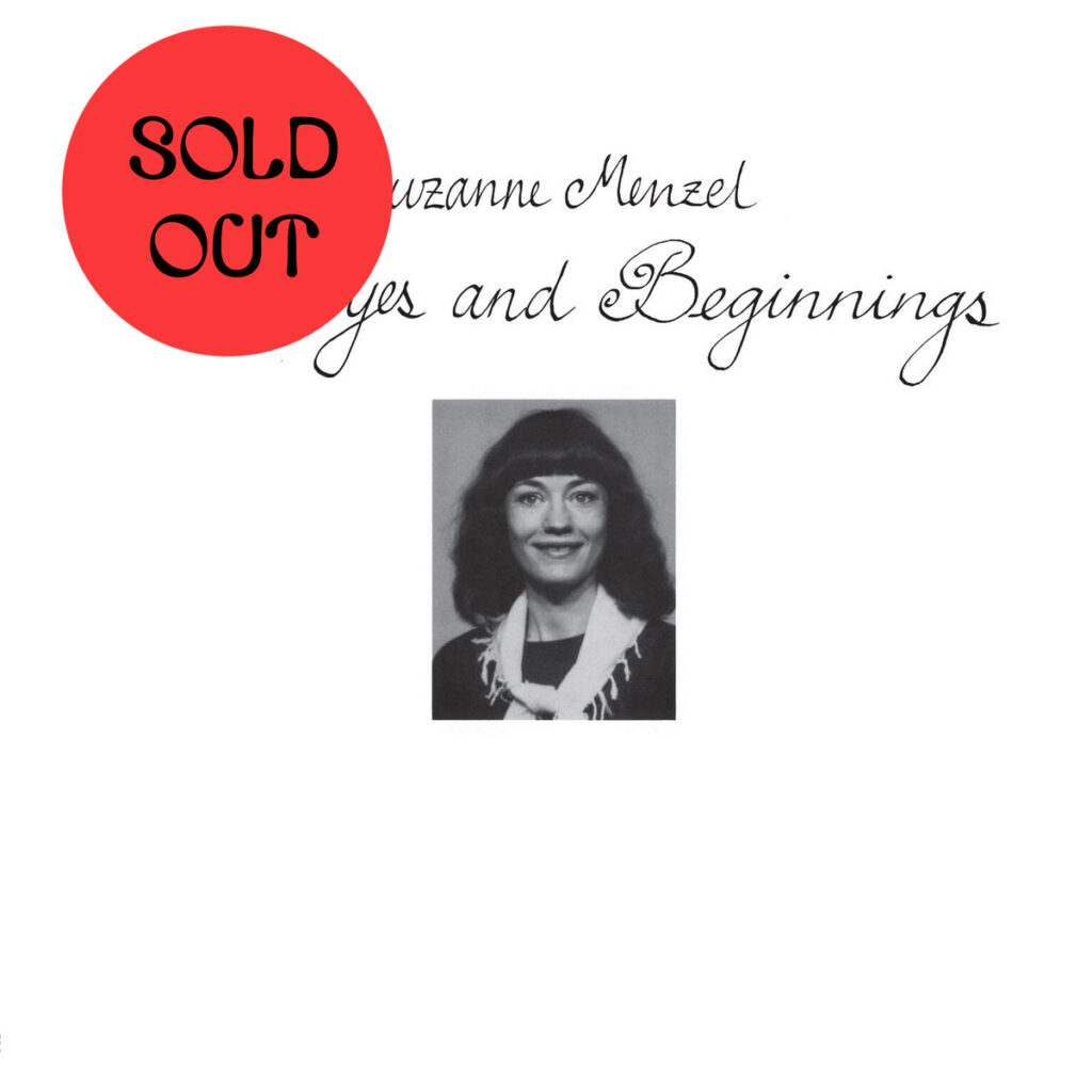 Suzanne Menzel - Goodbyes And Beginnings LP product image