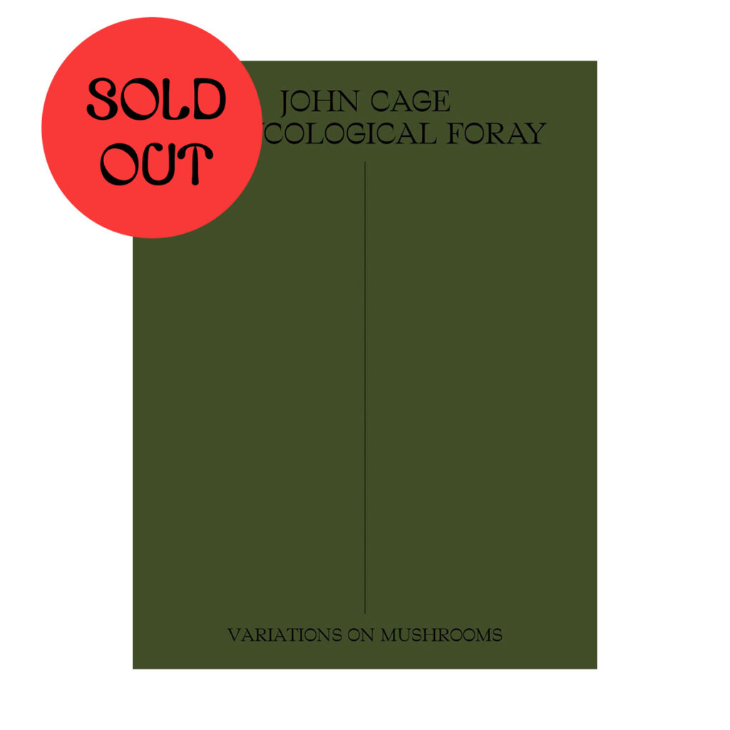 John Cage – A Mycological Foray BOOK product image
