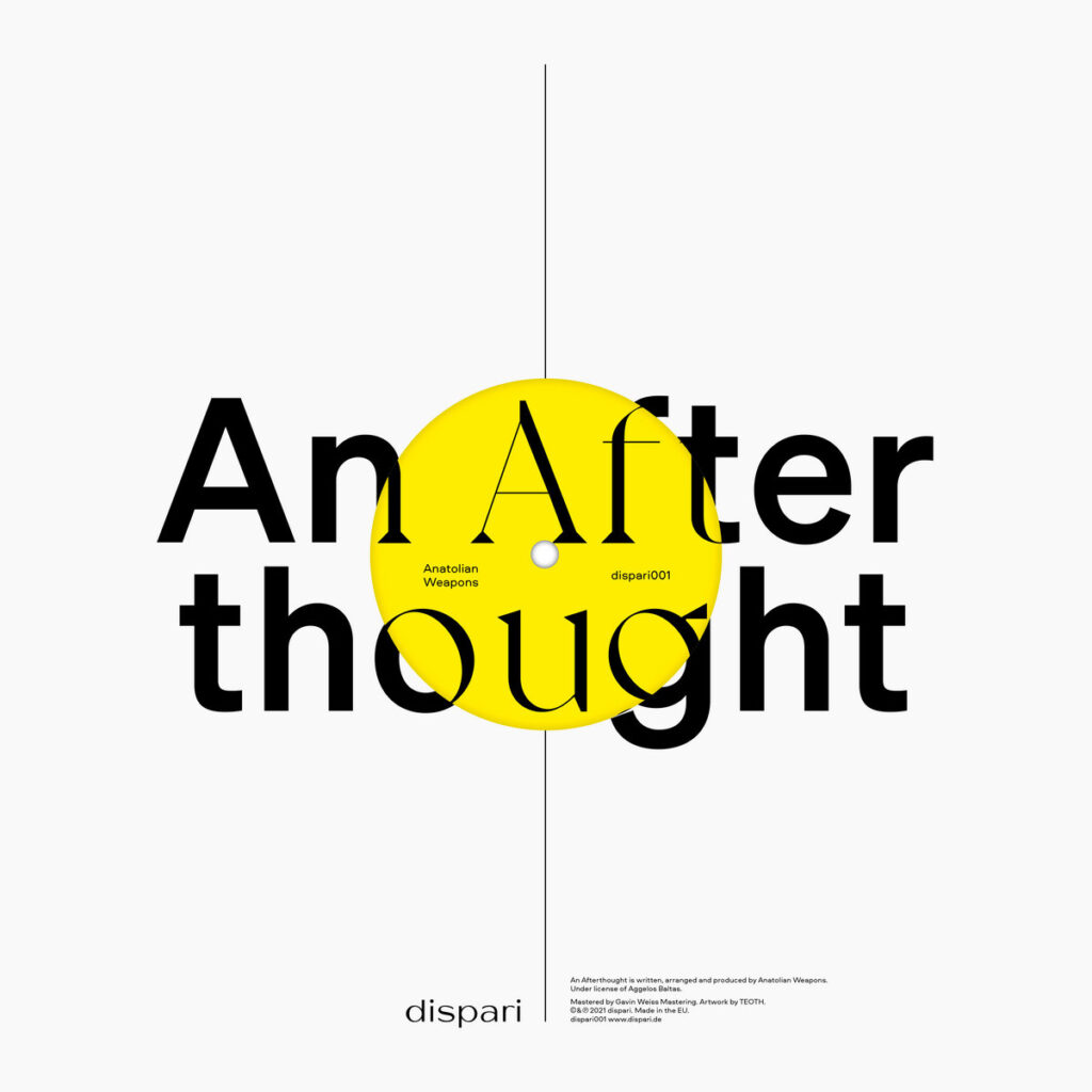 Anatolian Weapons, Hector Zazou, Laurie Anderson - An Afterthought / Into Your Dreams 12″ product image