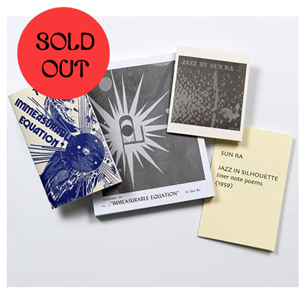 Sun Ra – Extensions Out, Plus: Four Poetry Books (1959/1972) BOOKS product image
