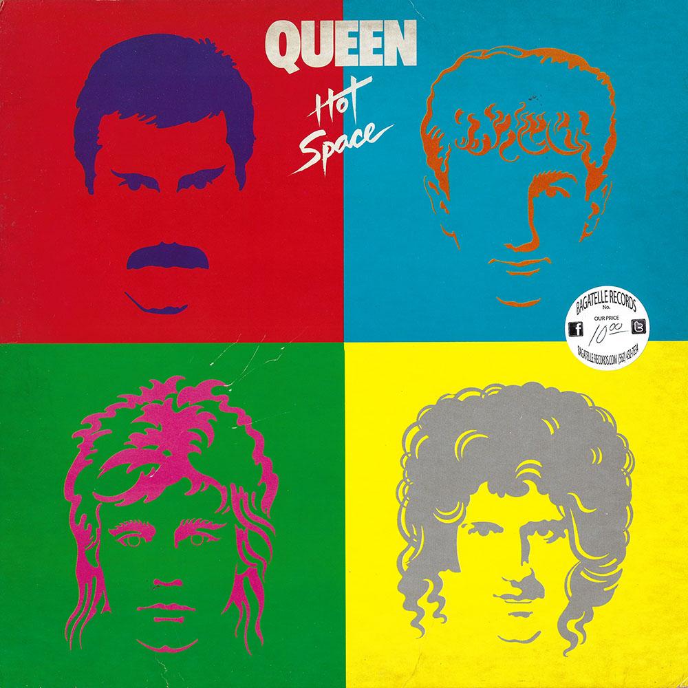 Queen – Hot Space album cover